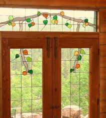 luxury stained glass exterior door front window light insert uk french paint wood