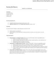 Nurse Aide Resume Examples Download Nursing Aide Resume Sample Free
