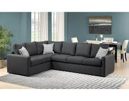 Image Broyhill Athina Piece Right Facing Queen Sofa Bed Sectional Charcoal Throughout Sectional Sofa Bed Stylish Sectional The Salty Volt Athina Piece Right Facing Queen Sofa Bed Sectional Charcoal