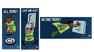 Turn Off Lights Stickers Free Energy Saving Switch Off Stickers Teachers Resources
