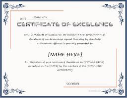 Certificate Of Excellence Template Word Certificate of Excellence for MS Word DOWNLOAD at http 52