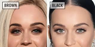 celebrities wearing black versus brown eyeliner why you should wear brown eyeliner