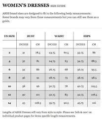 Asos Clothing Size Chart Asos Midi Dresses Whoorl