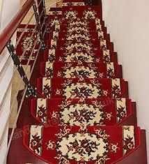 zengai red carpet stair treads runner rug pad set of 5 self sticking bottom thicken