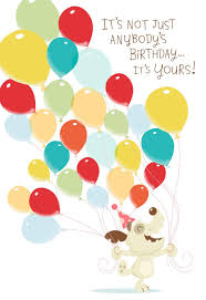 Dog With Balloons Musical Birthday Card With Motion Greeting Cards