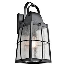 kichler tolerand 1 light 20 25 large outdoor wall in textured black outdoor wall lights outdoor lights