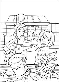 Small Picture All Is Dirty In The Kitchen coloring page Free Printable