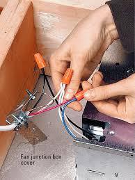installing a bath vent fan better homes gardens step 13 wire the fan
