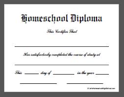 homeschool high school diploma templates  high school diploma doc 4