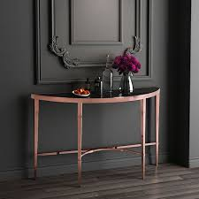 half moon console table. Half Moon Rose Gold Console Table W