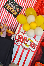 DIY- Party decor giant popcorn boxes, circus/carnival party, DIY Popcorn  Boxes