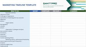 Marketing Timeline Templates Free Download Excel Template