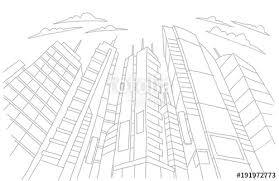 modern architecture skyscrapers sketches.  Modern Big City Skyscraper Sketch Buildings Gray Line Skeleton Strokes Modern  Architecture Landscape Hand Drawn In Architecture Skyscrapers Sketches E