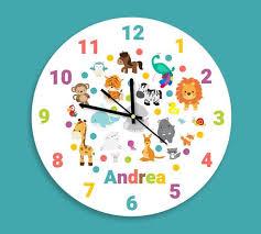 kids animal wall clock fun animal kid s