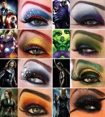 avengers makeup brillant top left capn america 2nd down iron man
