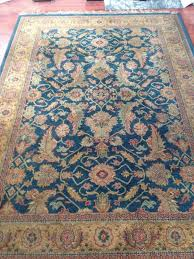 asiatic carpets royal agra very large blue gold rug reduced