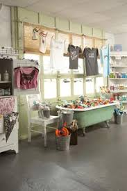 store display furniture. the bathtub is a great way to display lot of small items or even store furniture