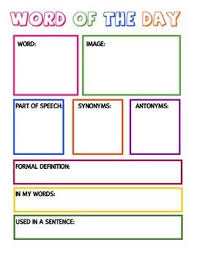 Vocab Building Worksheets Free Vocabulary Graphic Organizer Teaching Vocabulary