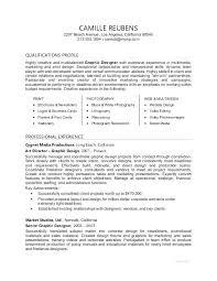 Sample Profile On Resume Letter Resume Directory
