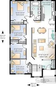 House plan W detail from DrummondHousePlans com    st level Affordable  Simple four bedroom bungalow house plan  ideal for narrow lot