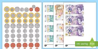 Angry birds printable play money and. Recognising Coins And Notes Colouring Pages Teacher Made