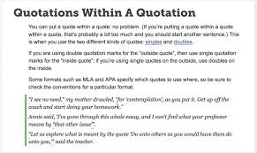 Quotation In Mla Mla Quote Within A Quote Blackbackpub Com