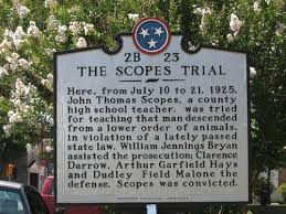 is the scopes monkey trial over self educated american
