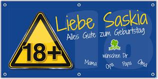 18 Geburtstag Banner Geburtstagsbanner Zum Online Gestalten Ab 875