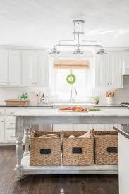 Diy kitchen island Upcycled Diy Kitchen Island With Baskets In White Kitchen Nina Hendrick Build Your Own Diy Kitchen Island Tutorial Free Building Plans