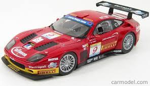 Présentation de ma ferrari 575 gtc evoluzione de la marque kyosho au 1/18ème. Kyosho 08393b Scale 1 18 Ferrari 575 Gtc Team J M B N 9 Estoril 2003 Ph Peter F Babini Red Yellow