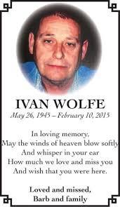 Ivan WOLFE   Obituary   Mitchell Advocate