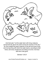 Small Picture Creation Coloring Pages