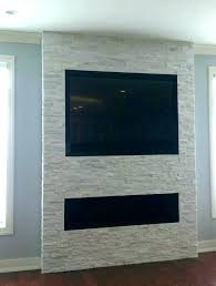 hang tv without studs mounting into brick fireplace on mount hide wires stone wall hanging over