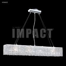 james r moder 40586s22 4 light crystal chandelier in silver with imperial crystal clear