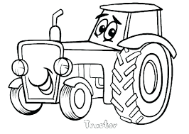 Farm Tractor Printable Coloring Pages Farmer On Page Colossal Of