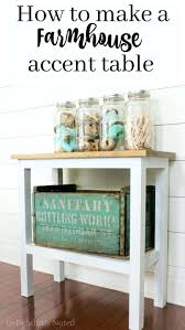 picture perfect furniture. add rustic charm to your home with this easytobuild farmhouse accent table picture perfect furniture n
