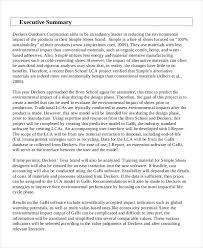 Executive Sumary Consulting Executive Summary Example