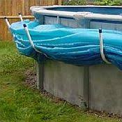 above ground pool covers. Solar Saddle Above Ground Pool Covers