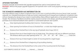 Overhead Door Specifications For Architects Contractors