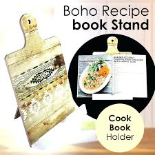 recipe book stand home cookbook holder australia visual touch luxury wooden mobile rack doent