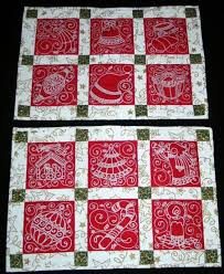 63 best quilt machine embroidery images on Pinterest | Drawings ... & Christina Lynn - I need these! How can we make this happen? Free Projects  and Ideas. Quilted Christmas Placemats with machine embroidery. Adamdwight.com