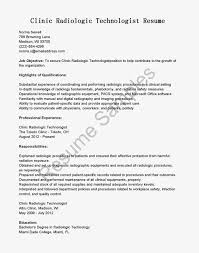 Prepossessing Radiology Technician Resume Examples For Ct Tech