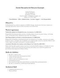 Resume Format For Receptionist Resume Bank