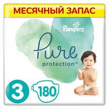 <b>Pampers Подгузники Pure Protection</b> р.3 (6-10 кг) 180 шт ...