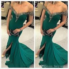 <b>Hunter Green Mermaid 2019</b> Arabic Evening Dresses Beaded ...