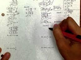 8th grade two step equations worksheets webmart me