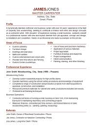 Carpenter Resume Example Woodworker