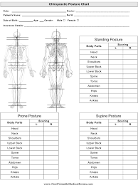 Chiropractor Posture Chart Template Download Printable Pdf