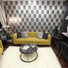 modern black and white living room with home office black and white home office