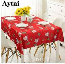 aytai cartoon printing red table cloth plastic tablecloths items table runner decorations for home 60 round tablecloth wedding